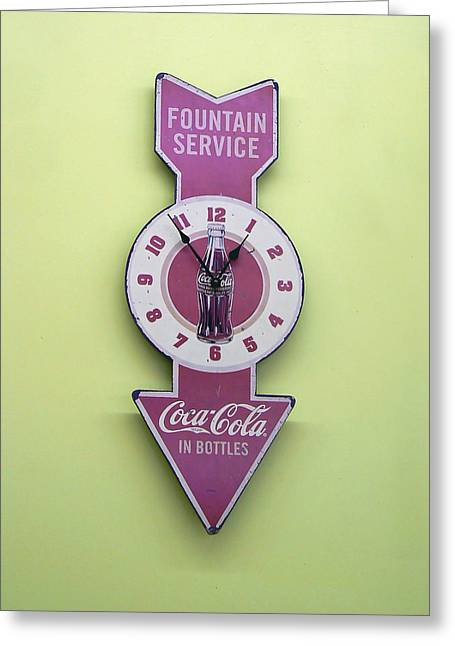 Patch Greeting Cards - Time for Coke Greeting Card by Pamela Patch