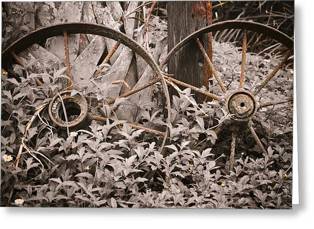 Wagon Digital Art Greeting Cards - Time Forgotten Greeting Card by Carolyn Marshall