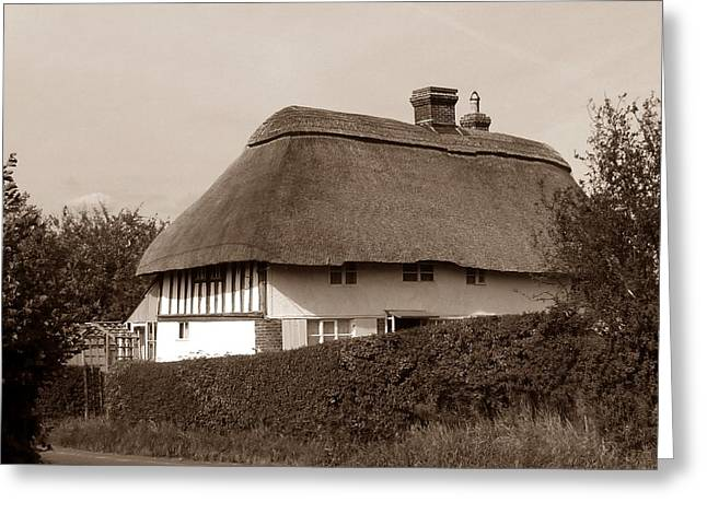 Thatch Digital Greeting Cards - Time gone by Greeting Card by Sharon Lisa Clarke