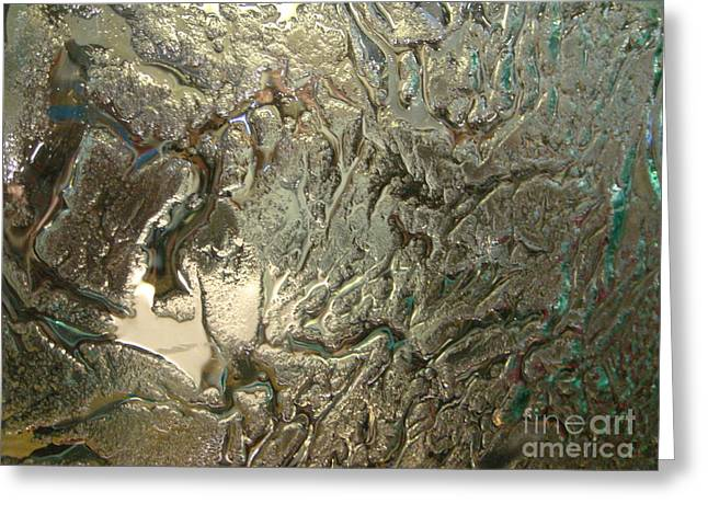Flow Glass Greeting Cards - Time in Ice Greeting Card by Nika One