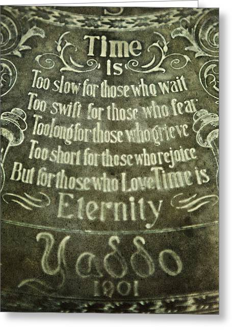 Love Poem Greeting Cards - Time is...Eternity Greeting Card by Lisa Russo