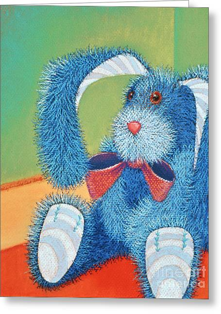 Rabbit Pastels Greeting Cards - Time Out Greeting Card by Tracy L Teeter