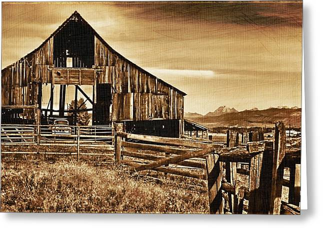 Barn Digital Greeting Cards - Time Passing Greeting Card by DMSprouse Art