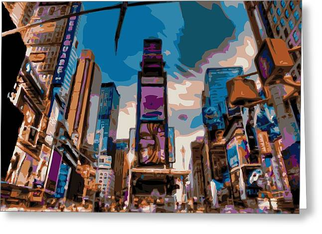 True Melting Pot Greeting Cards - Time Square Color 16 Greeting Card by Scott Kelley