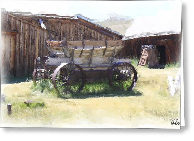 Old Western Photos Greeting Cards - Time Stands Still Greeting Card by Brenda Deem