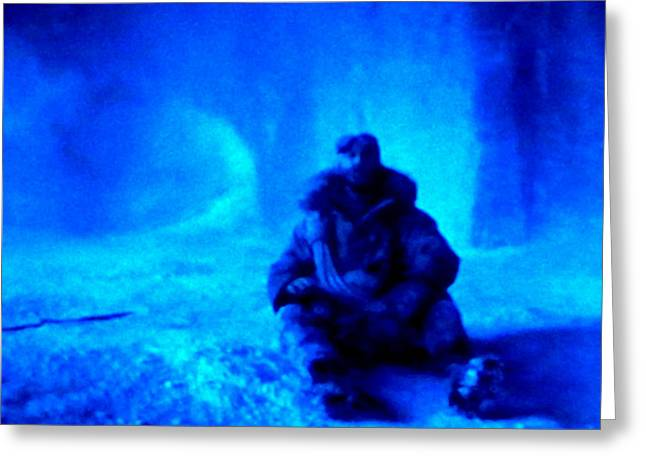 print Mixed Media Greeting Cards - Time Stopped in a Huge Snow Ice  Grotte Greeting Card by Colette V Hera  Guggenheim