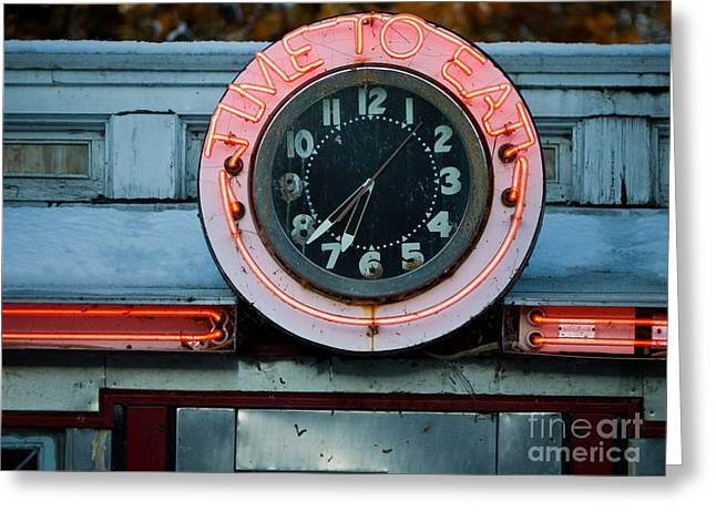 Diner Greeting Cards - Time To Eat Greeting Card by Edward Fielding
