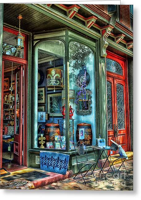 Store Fronts Greeting Cards - Time To shop Greeting Card by Arnie Goldstein
