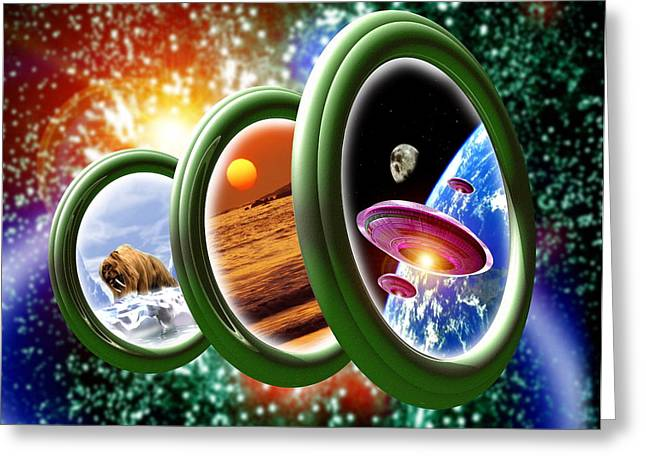 Warp Greeting Cards - Time Travel Greeting Card by Victor Habbick Visions