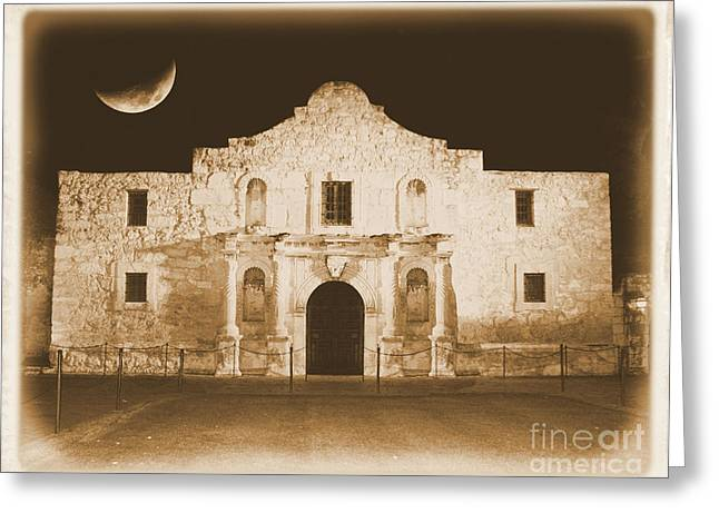 Carol Groenen Digital Art Greeting Cards - Timeless Alamo Greeting Card by Carol Groenen