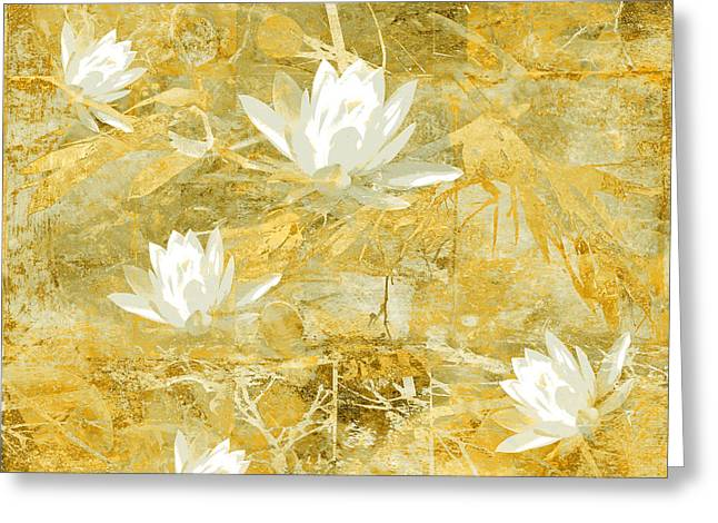 Ocher Greeting Cards - Timeless Beauty photo collage Greeting Card by Ann Powell