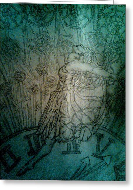 Ballet Dancers Drawings Greeting Cards - Timeless Dancer Greeting Card by Crystal N Puckett