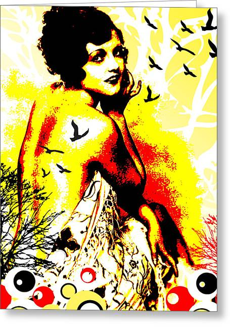 Showgirls Greeting Cards - Timeless Flight Greeting Card by Chris Andruskiewicz