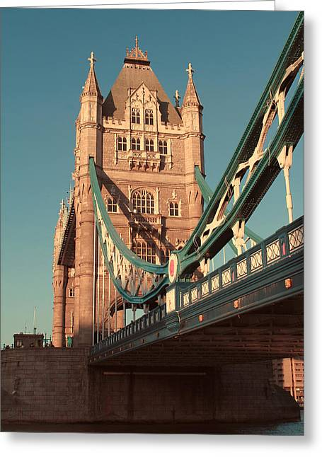 Famous Bridge Greeting Cards - Timeless Tower Bridge Greeting Card by Jasna Buncic