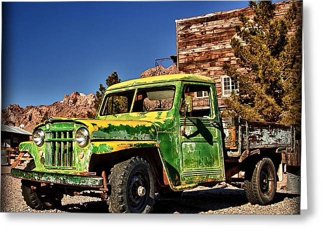 Hdr Landscape Greeting Cards - Timeless Worker Greeting Card by Jerry Roberts