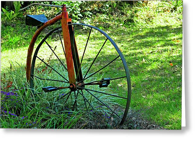 Spokes Greeting Cards - Times Gone By Greeting Card by Carolyn Marshall