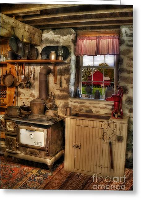 Times Gone By Greeting Card by Susan Candelario