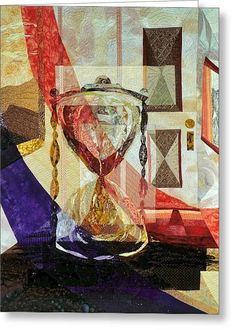 Transparent Tapestries - Textiles Greeting Cards - Times Release Greeting Card by Doria Goocher
