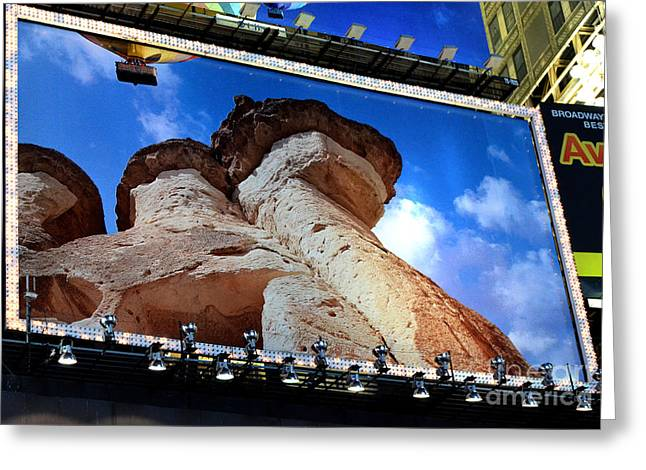 Times Square Billboards Greeting Card by Pravine Chester