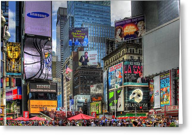 In Focus Greeting Cards - Times Square Greeting Card by Joe Paniccia