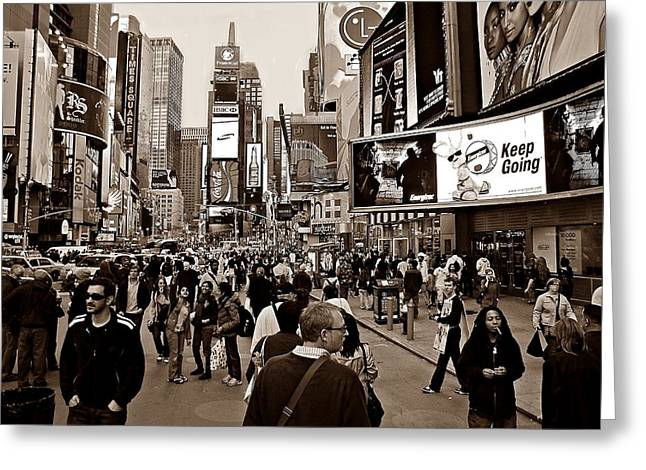 New Yorker Greeting Cards - Times Square New York S Greeting Card by David Dehner