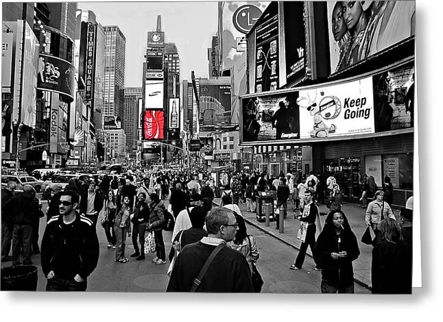 New Yorker Greeting Cards - Times Square New York TOC Greeting Card by David Dehner