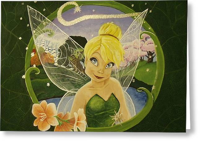 Tink Greeting Card by Rebecca Marquardt