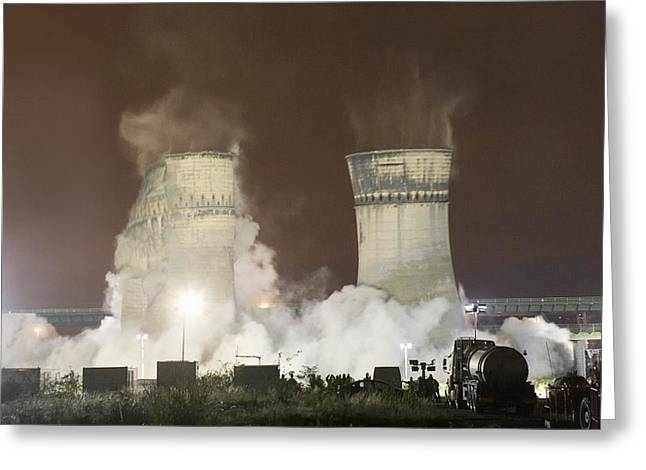 24th Greeting Cards - Tinsley Cooling Towers, Sheffield Greeting Card by Mark Sykes