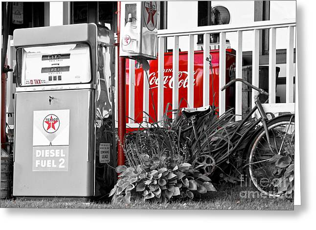 Tinted Fuel For Life Greeting Card by Brenda Giasson