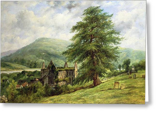 Rural Church Greeting Cards - Tintern Abbey  Greeting Card by Frederick Waters Watts