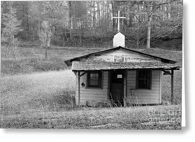 Frame House Greeting Cards - Tiny Church Greeting Card by Arni Katz