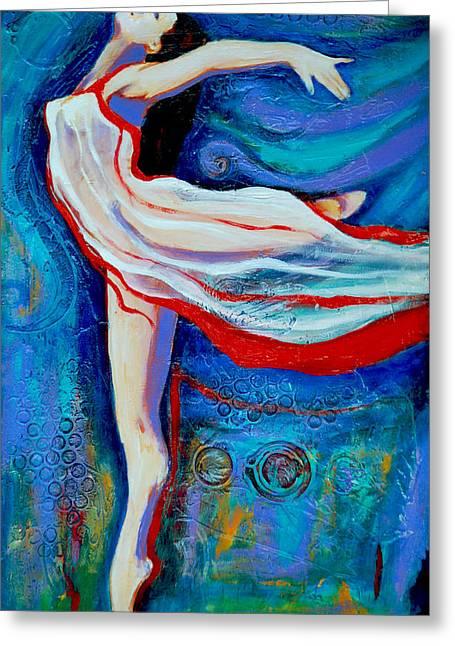 Tiny Dancer Greeting Card by Claudia Fuenzalida Johns