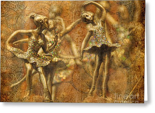 Dancing Figurine Greeting Cards - Tiny Dancers Greeting Card by Norma Warden
