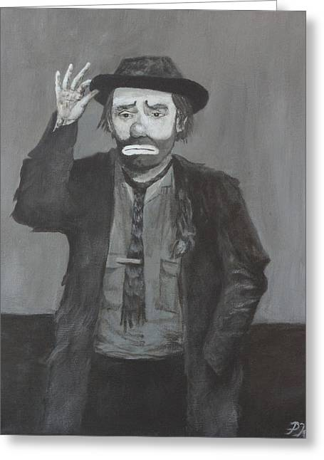 Emmett Kelly Greeting Cards - Tip of the Cap Greeting Card by Patrick Kelly