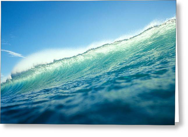 Vince Greeting Cards - Tipped Wave Greeting Card by Vince Cavataio - Printscapes