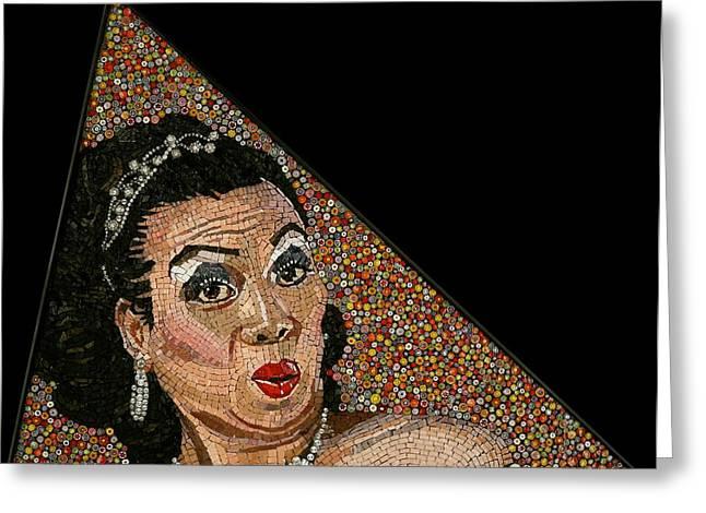 Mosaic Portraits Mixed Media Greeting Cards - Tita Aida Greeting Card by Michael Kruzich