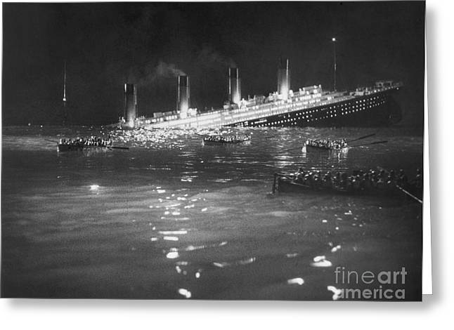 TITANIC: RE-CREATION, 1912 Greeting Card by Granger