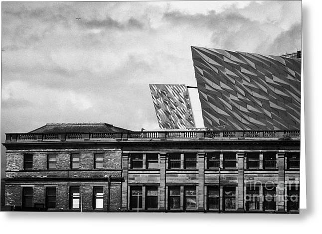 Titanic Signature Project Building Rising Above The Harland And Wolff Drawing Offices Greeting Card by Joe Fox