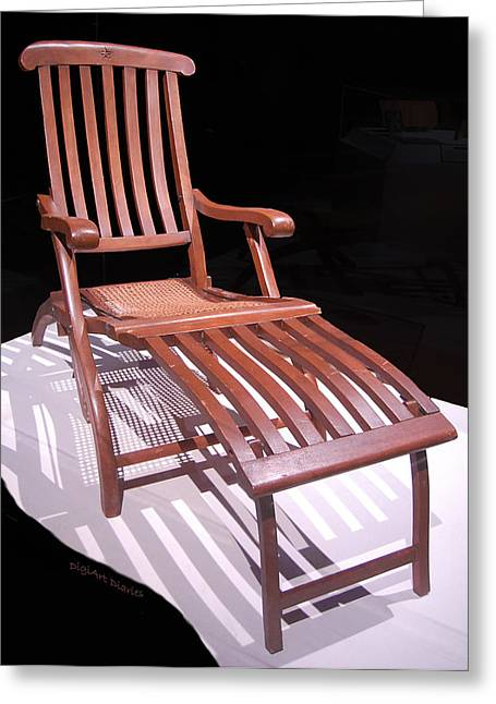 Lounger Greeting Cards - Titanic Teak Lounge Greeting Card by DigiArt Diaries by Vicky B Fuller