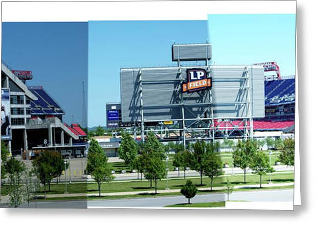 Nashville Tennessee Greeting Cards - Titans Stadium - 1 Greeting Card by Randy Muir