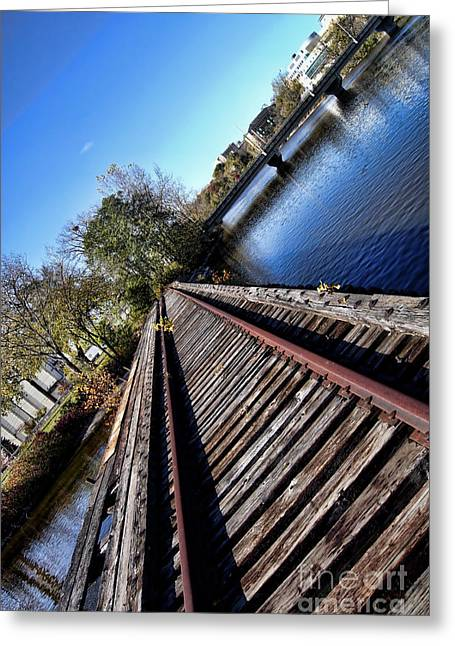 Appleton Wi Greeting Cards - Titled Tracks Greeting Card by Craig Ebel