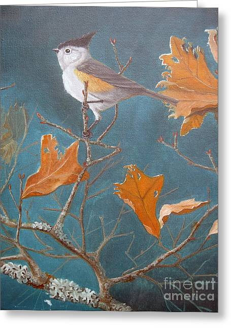 Titmouse Greeting Card by Rick Mittelstedt