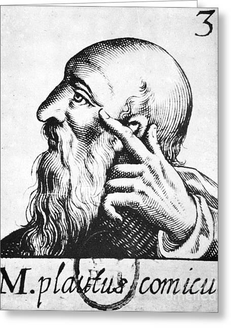 Titus Maccius Plautus Greeting Card by Granger