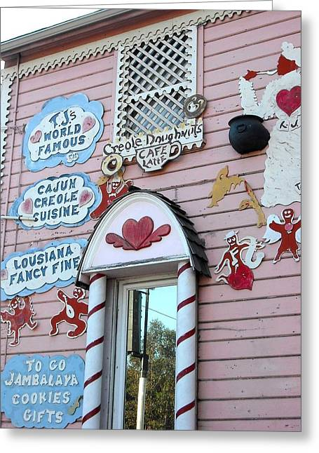 Tj Greeting Cards - TJs Gingerbread House Oakland Greeting Card by Kelly Manning