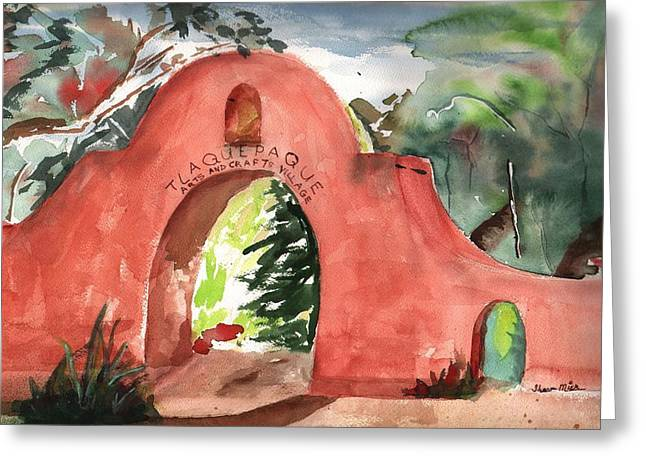 Mexicano Greeting Cards - Tlaquepaque Arts and Crafts Village Greeting Card by Sharon Mick
