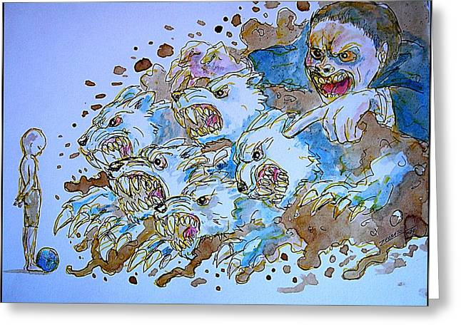 Social Corruption Greeting Cards - To Corrupt The Innocence Greeting Card by Paulo Zerbato