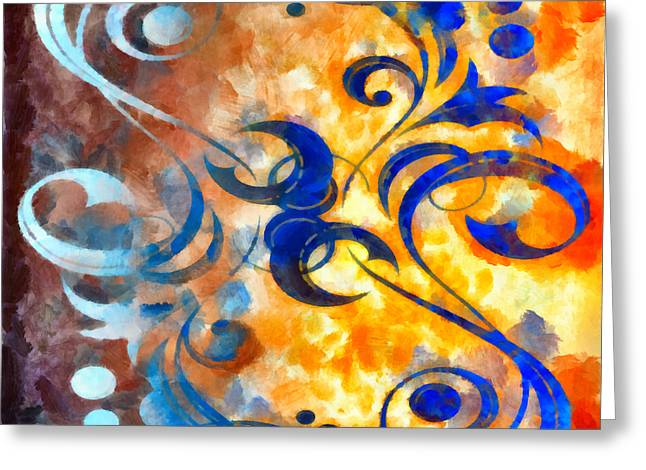 Thoughts Mixed Media Greeting Cards - To Harness The Sun Greeting Card by Angelina Vick