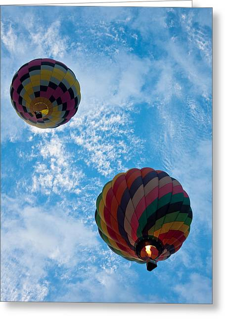 Balloon Fiesta Greeting Cards - To The Moon And Back Greeting Card by Ralf Kaiser