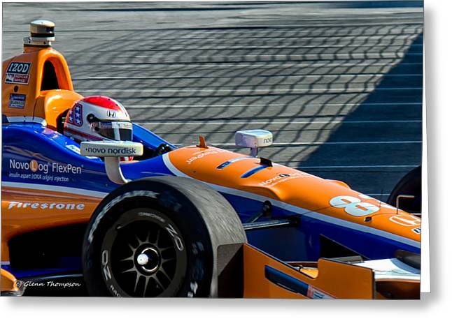 Indy Car Greeting Cards - To The Pits 3 Greeting Card by Glenn Thompson