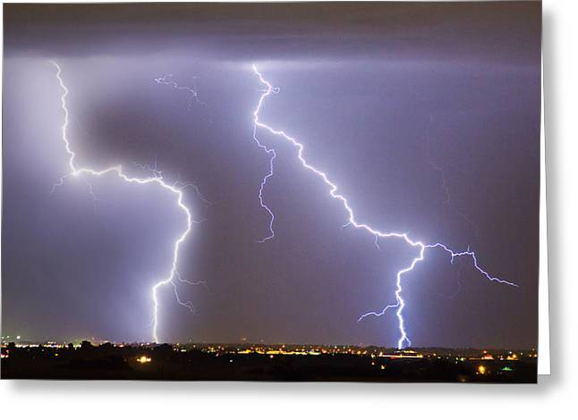 Images Lightning Greeting Cards - To The Right Right To The Left left Greeting Card by James BO  Insogna